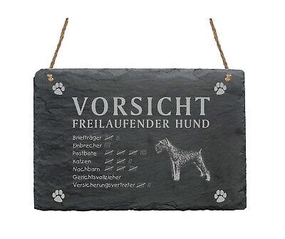 LiebenswüRdig Schiefertafel « Schnauzer - Vorsicht - Freilaufender Hund » Schild Garten Hunde