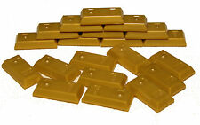LEGO LOT OF 20 NEW GOLD BARS INGOT PIRATE TREASURE FORT KNOX GOLDEN 1 X 2 PILE