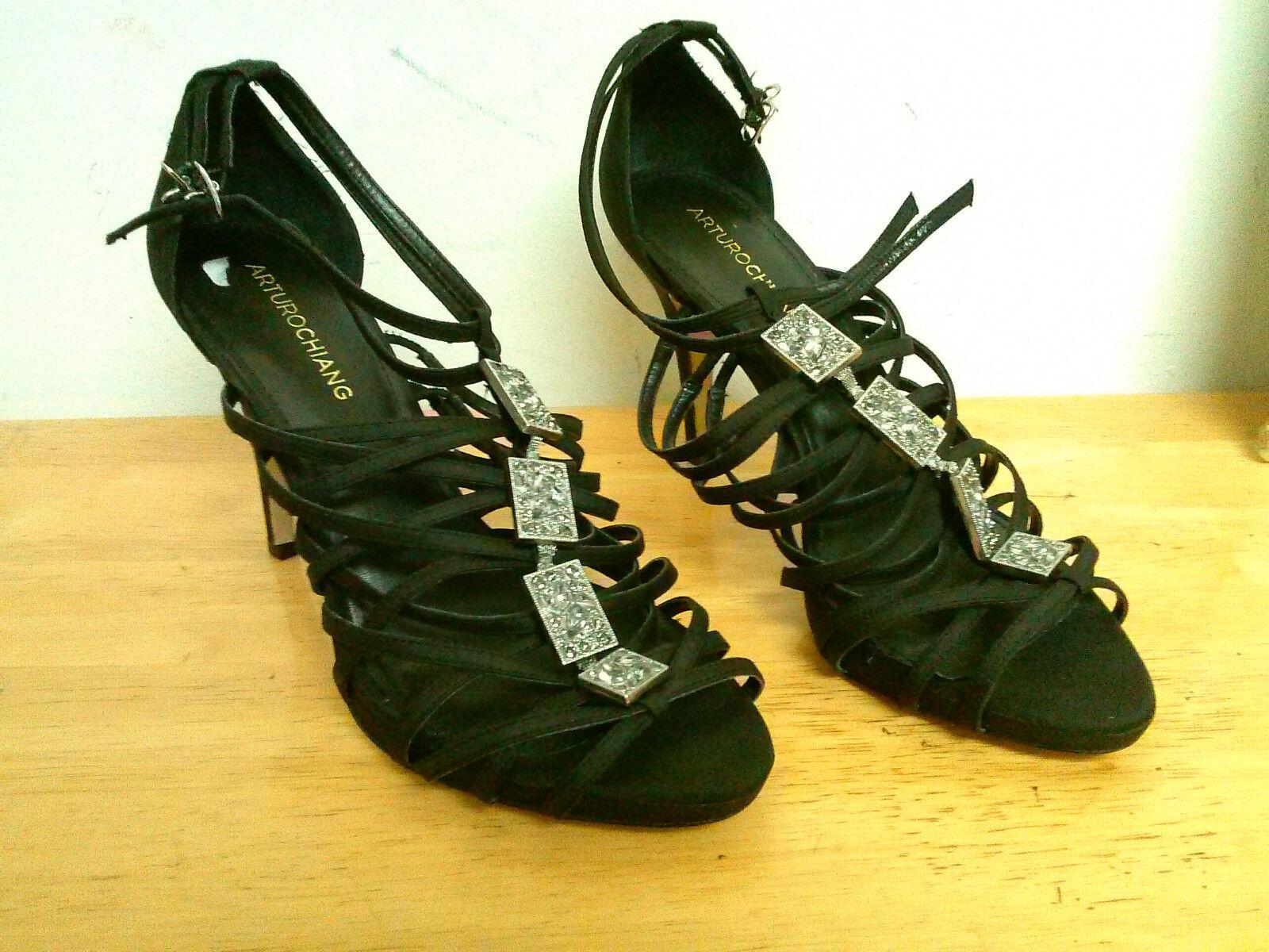 Arturo Chiang New Womens Sadelia Black Fabrix Heels 9 M Shoes NWOB