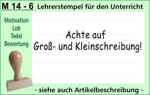 Lehrerstempel Stempel Schule Lehrer Belobigungsstempel  M 14-6