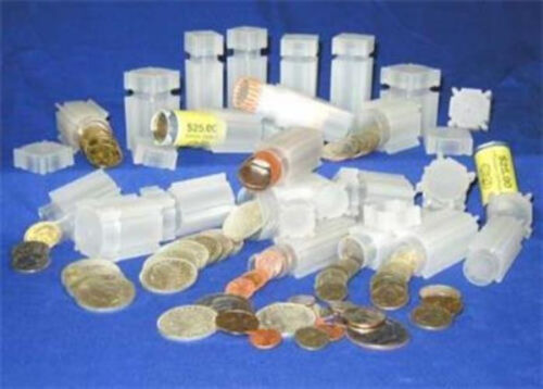 10   Square Coin Tubes    Mix /& Match Sizes  Your Choice