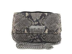79a5170f00e NWT MICHAEL KORS Sloan Small Quilted Embossed Leather Messenger Bag ...
