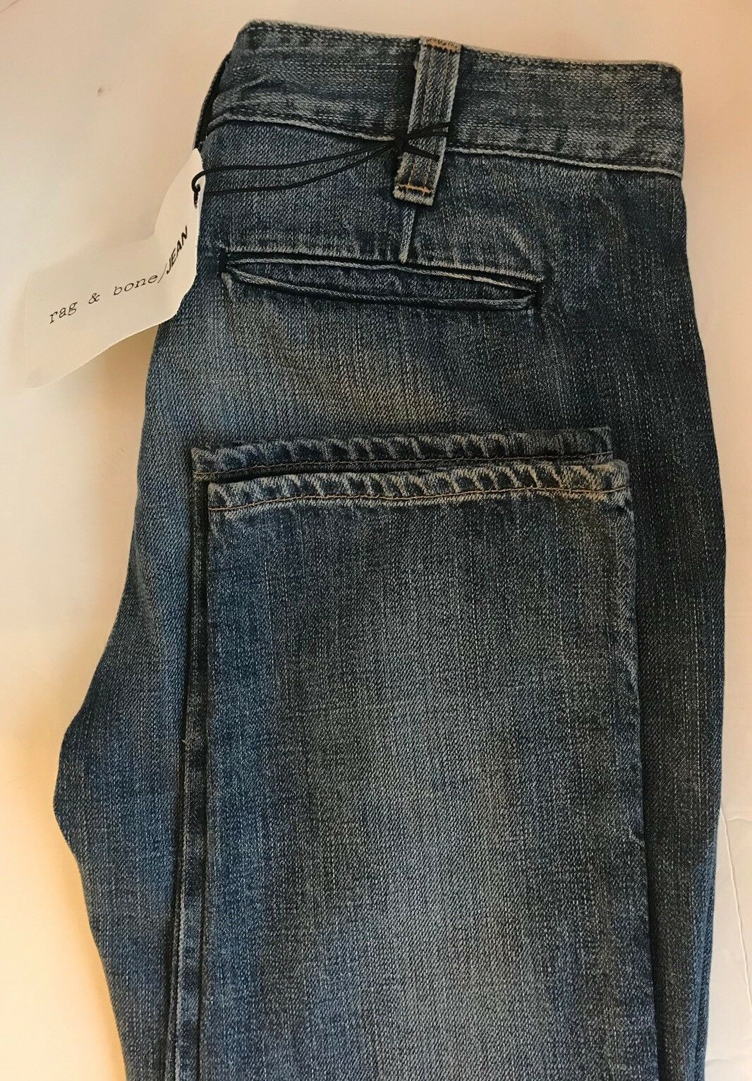 New Rag & Bone Women Jeans Denim Stone Wash 26 Straight Cotton USA Trouser Cut