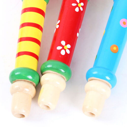 Hot Selling Baby Kid Wooden Musical Instrument Trumpet Hooter Bugle Suona  jg
