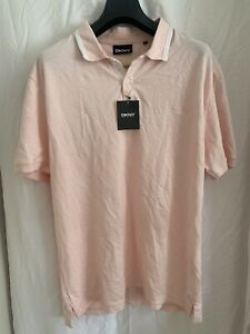 DKNY-Mens-Polo-T-Shirt-Size-XXL-Pink