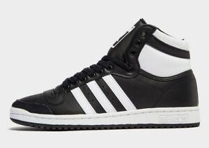 Authentique-Nouveau-Adidas-Originals-Top-Ten-Hi-Hommes-Taille-UK-7-9-noir-blanc