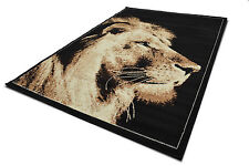 New Modern Small 60x110cm Animal Print Lion Face Area Rugs Soft Carpet Mats