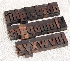 A Z Alphabet 177 Letterpress Wooden Printing Blocks Wood Type Character Print
