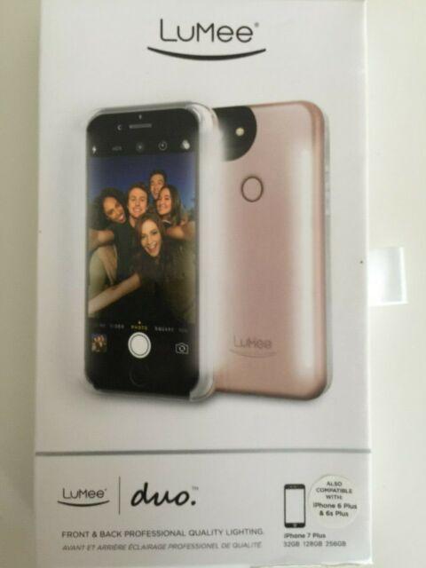 01c0ecb031 LuMee Duo Dual Sided Light up Selfie Case iPhone 6plus 7 Plus 8- Rose Gold