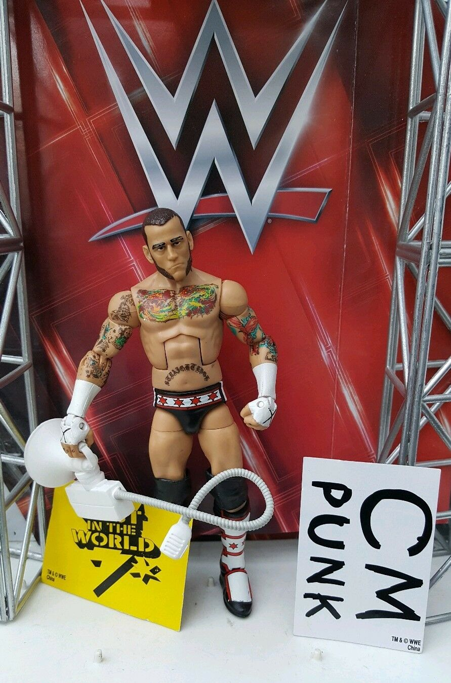 WWE MATTEL ELITE SERIES CM PUNK BUILD BUILD BUILD A FIGURE JIM ROSS WRESTLING FIGURES 138