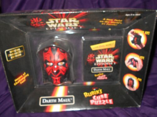 New 1999 Star Wars Episode 1 Sith Lord Darth Maul Rubik's Cube Toy