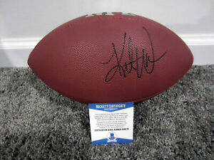 the latest 69d6d ecbaf Details about KURT WARNER Cardinals St Louis Rams HOF Autographed SIGNED  Football w/ BAS COA