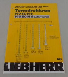 Data Sheet Liebherr Tower Crane 140 Ec-H 6/Litronic From 03/2001