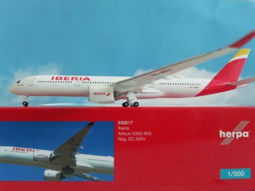 "1:500 Herpa Wings 532617  Iberia Airbus A350-900 EC-MXV /""Plácido Domingo/"""