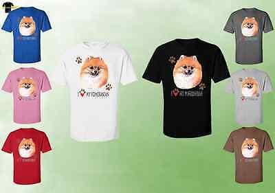 Unisex Pomeranian T-Shirt 07766HD4 I Love My Pomeranian T-Shirts Dog