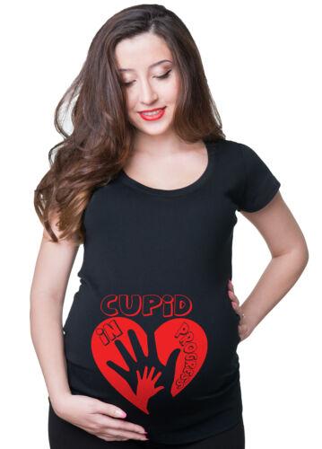Valentine Day Pregnancy T-shirt Cupid Maternity Tee Shirt