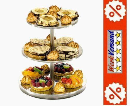 wie Bild ETAGERE 3 Ablagen für Bäcker Metzger Gastronomie