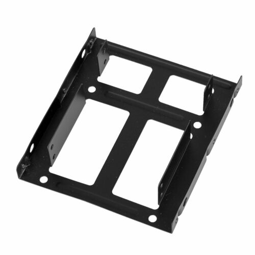 "3.5/"" Metal Adapter for Two 2.5/"" SSD HDD PC Mounting Bracket Hard Drive Holder"