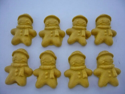 20 Pcs Dollhouse Miniature Ginger Bread  Cookie Christmas Season Deco Food