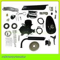 80cc Bike 2 Stroke Gas Engine Motor Kit Motorized Bicycle Black Engine