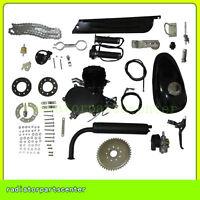 2 Stroke 80cc Cycle Bike Bicycle Motorised Engine Kit Black Motor Black Muffler