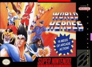 World-Heroes-Super-Nintendo-Game-SNES-Used