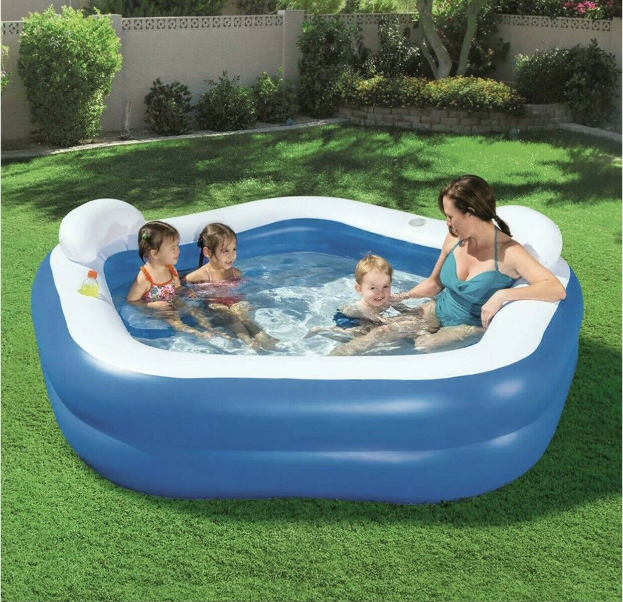 Bestway Inflatable Pentagon Swimming Pool With Paddling Seats | RRP 49.99