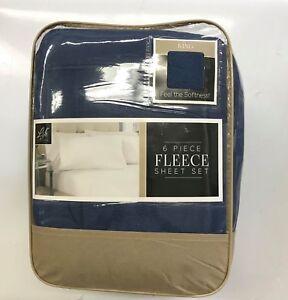 Life Comfort Fleece Sheet Set 100 Polyester King Blue