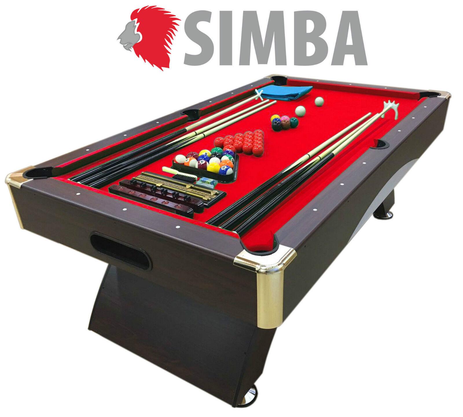 Mesa de billar juegos de billar pool 7 ft carambola FULL Medición 188 X 96 cm