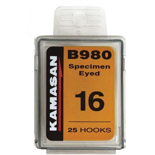 KAMASAN B980 Échantillon EYED fly tying hooks Jeu Pêche à la mouche Toutes Tailles
