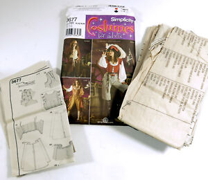 Details about Simplicity 3677 Pattern Misses 14-20 Pirate Steampunk  Halloween Cosplay Costume