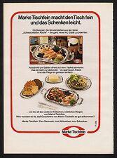 3w1302/ Alte Reklame von 1974 - Marke TISCHFEIN macht den Tisch fein.