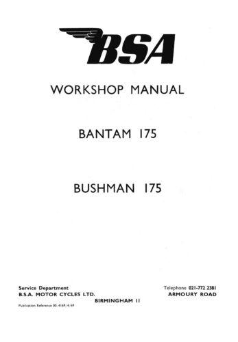 0417 BSA Bantam 175 Workshop manual