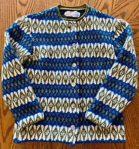 Vintage-Iceland-Lambs-Wool-Woman-039-s-Sweater-Size-10-Sweden-Jersey-Modello