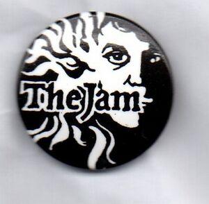 THE-JAM-BUTTON-BADGE-British-Punk-Rock-Mod-Revival-Band-PAUL-WELLER-25mm