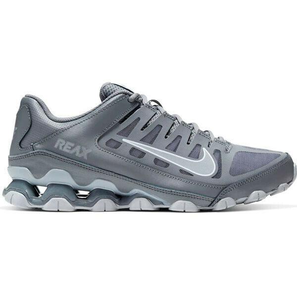 Nike Reax 8 Tr Mesh Scarpe Uomo Allenamento Corsa Palestra Sneaker Grigio Pelle