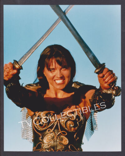 8x10 Photo~ XENA WARRIOR PRINCESS ~Actress Lucy Lawless ~Crossed Swords