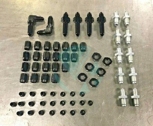 Brake Line Tuck Kit Black For Honda 88-00 Acura Integra 90-01 Fittings Only
