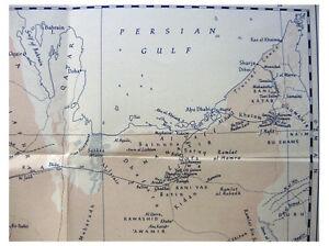 1949-Thesiger-Philby-ACROSS-THE-EMPTY-QUARTER-Qariya-Ruins-TWO-MAPS-6