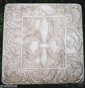Abs-plastic-fleur-de-lis-stepping-stone-mold-10-034-x-10-034-x-over-1-034-thick