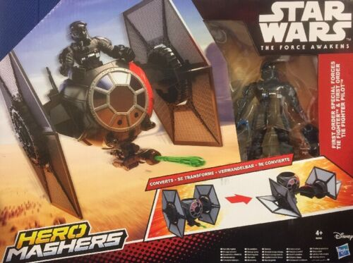 Disney Star Wars Héroe Mashers Tie Fighter y piloto de figuras de acción episodio VII