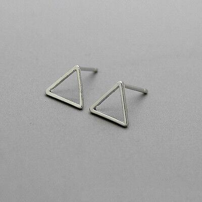 1 Pair Women Geometric Triangle Square Ear Clip Cuff Stud Earrings Gift