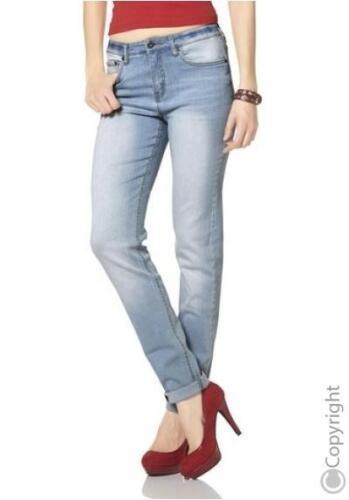 Arizona Jeans NEU Bleached Blau Used Damen Hose Stretch Denim L-Gr.76-80 L34