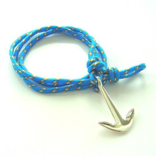 Anker Armband hellblau maritim Surfer Wickelarmband anchor bracelt multilayer