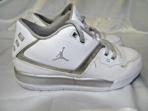 7f769e2d72969f GUC Jordan Flight 23 BP Little Kids Shoes 3Y White Metallic Silver ...