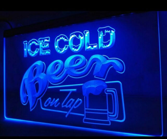 Ice Cold Beer On Tap LED Neon Sign