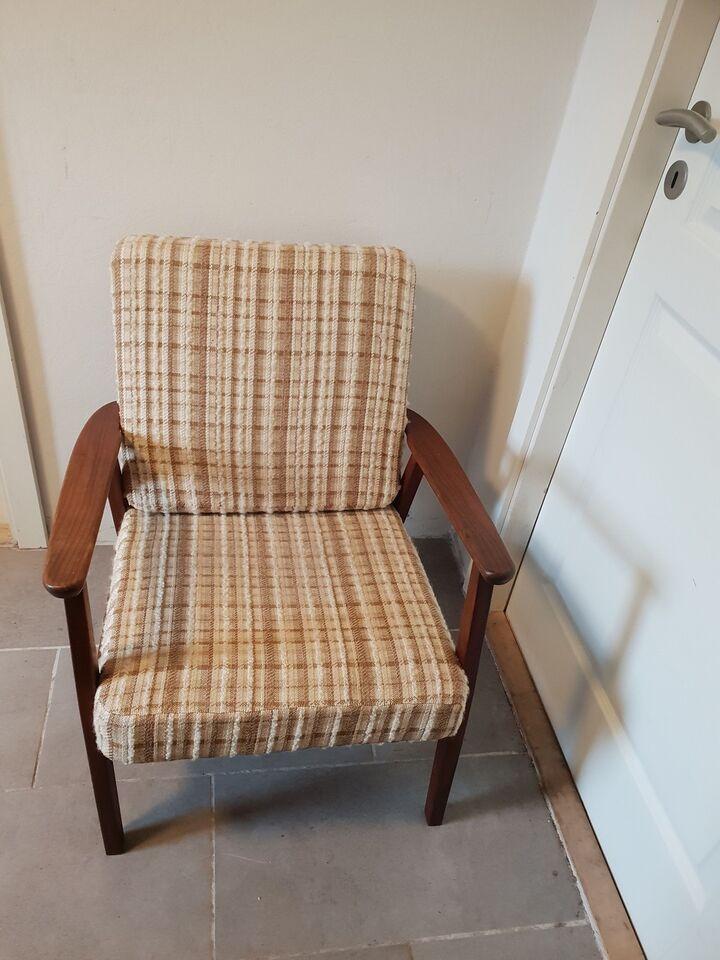 Lænestol, træ, Teak stol