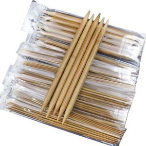 1X-75pcs-set-15-Sizes-20cm-Double-Pointed-Carbonized-Bamboo-Knitting-Needle-J3U5