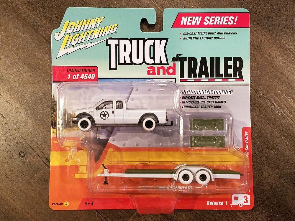 Johnny Lightning 1 64 Camión y remolque 2004 Ford F-250 AutoCocheavana jlcp 7086 Chase