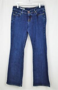 X2-Slim-W10-Low-Rise-Flare-Leg-Women-039-s-Dark-Blue-Jeans-Size-8-Regular-KK4